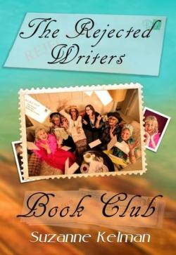 Book cover with photo of 6 middle-aged women on a couch & text