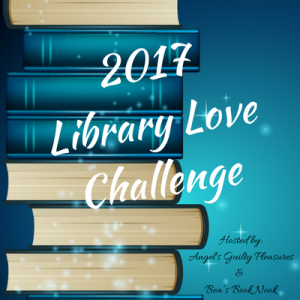 Stack of books with 2017 Library Love Challenge written across it