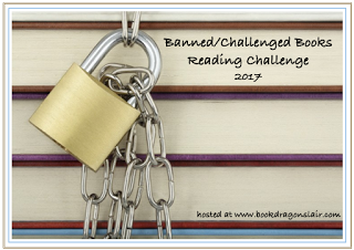 Padlock and Chain with text Banned/Challenged Books Reading Challenge 2017