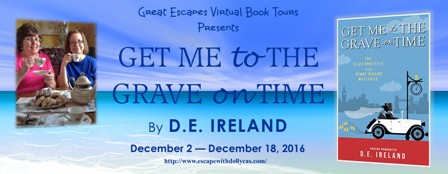 Great Escapes Virtual Book Tour Banner for Get Me to the Grave On Time