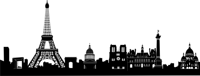 Silhouette of the Paris skyline