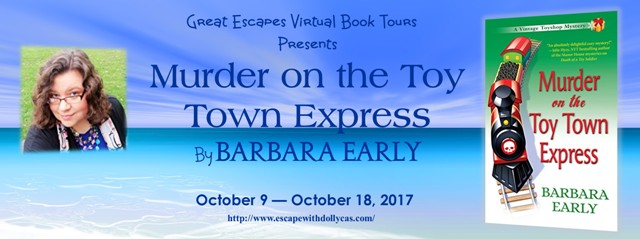 MURDER ON THE TOY TOWN EXPRESS large banner 640