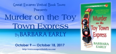 MURDER ON THE TOY TOWN EXPRESS large banner184
